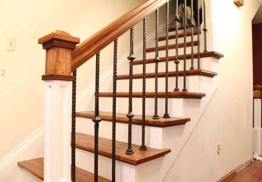 interior custom railing by coors remodeling lafayette indiana