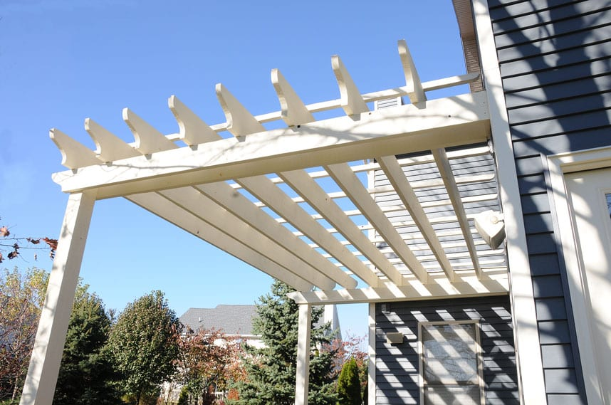 beautiful new pergola at huston home by coors remodeling lafayette indiana