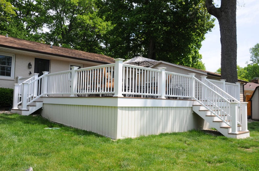 coors remodeling created a new custom railing for the ping porch lafayette indiana