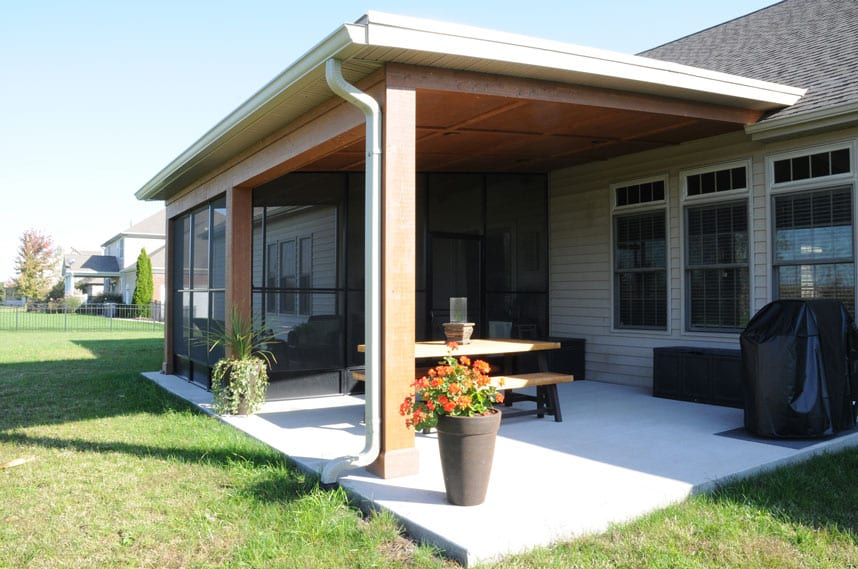 coors remodeling created a new covered porch for the spence family lafayette indiana
