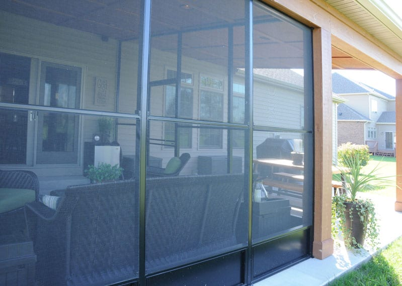 screened in porch for spence home by coors remodeling lafayette indiana