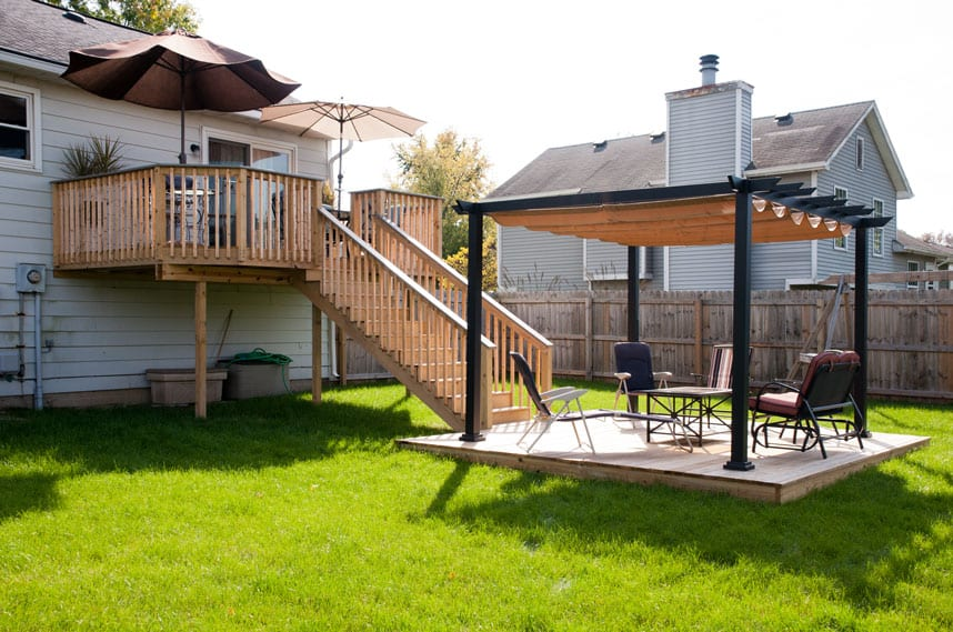 outdoor escape for the strickler household by coors remodeling lafayette indiana