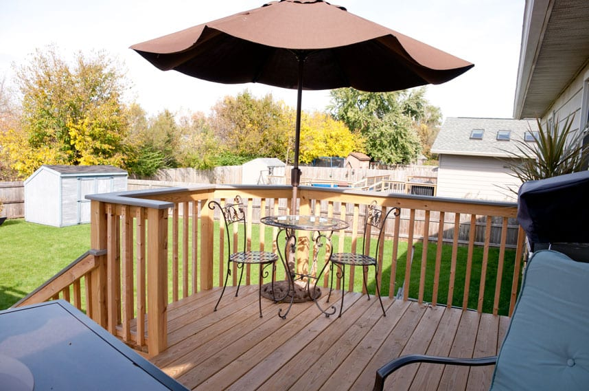 strickler home new decking by coors remodeling lafayette indiana