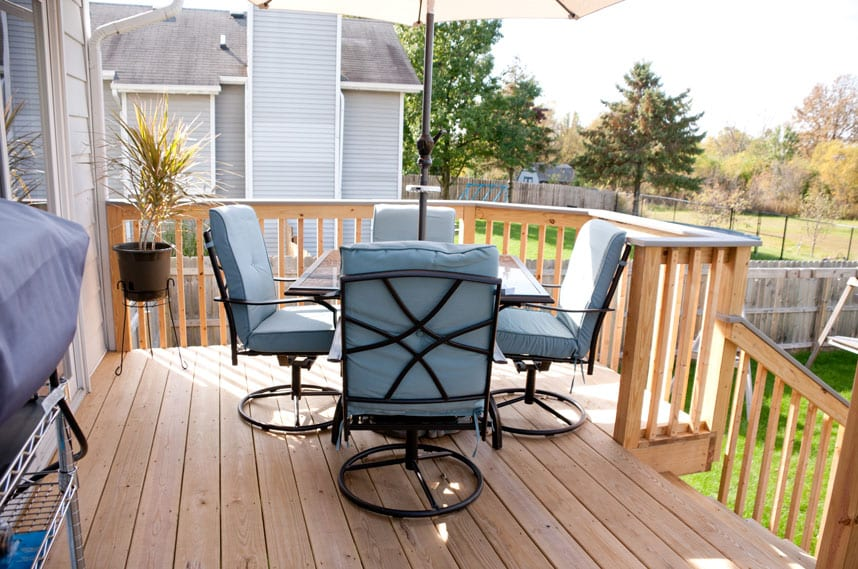 outdoor seating area for strickler home by coors remodeling lafayette iindiana